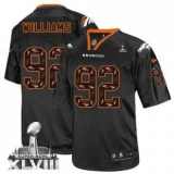 NEW Broncos #92 Sylvester Williams New Lights Out Black Super Bowl XLVIII NFL Elite Jerseys
