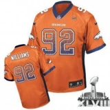 NEW Broncos #92 Sylvester Williams Orange Team Color Super Bowl XLVIII NFL Elite Drift Fashion Jerseys