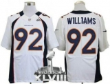 NEW Broncos #92 Sylvester Williams White Super Bowl XLVIII NFL Elite Jerseys