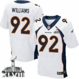 NEW Broncos #92 Sylvester Williams White Super Bowl XLVIII NFL Jerseys