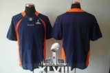 NEW Broncos Blank Navy Blue Alternate Super Bowl XLVIII NFL Elite Jerseys