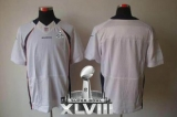 NEW Broncos Blank White Super Bowl XLVIII NFL Elite Jerseys