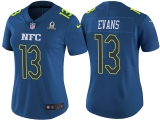 WOMEN\'S NFC 2017 PRO BOWL TAMPA BAY BUCCANEERS #13 MIKE EVANS BLUE GAME JERSEY
