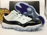 "Super Max Perfect Air Jordan 11 Retro Low ""Concord"" With True The Carbon -ZL"
