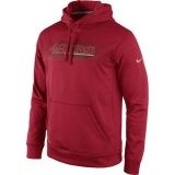 San Francisco 49ers Nike Red KO Speed Wordmark Performance Hoodie