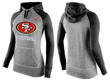 Women Nike San Francisco 49ers Performance Hoodie Grey & Black