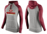 Women Nike San Francisco 49ers Performance Hoodie Grey & Red_1