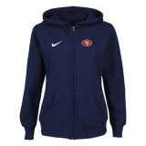 Women\'s Nike San Francisco 49ers Ladies Tailgater Full Zip Hoodie Blue