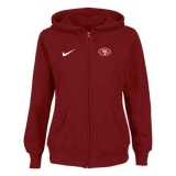 Women\'s Nike San Francisco 49ers Ladies Tailgater Full Zip Hoodie Red