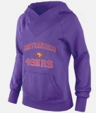 Women\'s San Francisco 49ers Heart & Soul Pullover Hoodie Purple