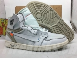 Perfect OFF-WHITE x Air Jordan 1 Men Shoes -SY (1)