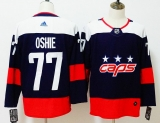 Washington Capitals #77 Black Red NHL Jersey (9)