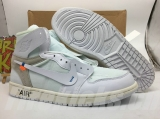 Perfect OFF-WHITE x Air Jordan 1 Men And Women Shoes -SY (3)