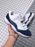"(SALE)Super Max Perfect Air Jordan 11 Low""Navy Snakeskin"" Men Shoes(98%Authentic) -Dong"