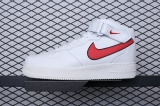 "2019.12 Stranger Things x Nike Super Max Perfect Air Force 1 Mid'07 HH ""Hawkins High""  Men And Women Shoes (98%Authentic)-JB (421)"