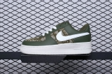 "2020.01 Dior x Nike Super Max Perfect Air Force 1'07 LV8""Greem/White Men And Women Shoes (98%Authentic)-JB (440)"