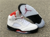 "Authentic Air Jordan 5 ""Fire Red"" -ZL"