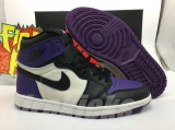 "(better quality)Super Max Perfect Air Jordan 1""Court Purple""Men And Women Shoes(no worry!good quality,95%Authentic) -GET"