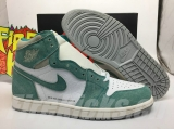"Normal Authentic quality and  Low price Air Jordan 1  ""Turbo Green"" Men And GS Shoes- LJR"