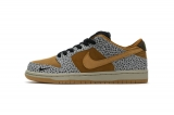 """2020.04 Super Max Perfect Nike Dunk Low """"Safari"""" Men And Women Shoes(98%Authentic)-LY"""