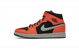 "Normal Authentic quality and Low price Air Jordan 1 Mid ""Black Cone"" Men And GS Shoes- LJR"