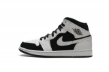 "Normal Authentic quality and Low price  Air Jordan 1 Mid""White Black""Men And GS Shoes- LJR"
