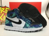 "2020.5 (Right box) Normal Authentic quality and Low price Air Jordan 1""Tie-Dye""Men And Women Shoes -LJR"