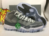 "2020.8 (Pick up the shoes after you check following details pictures)Authentic Air Jordan 11 Retro""Cool grey""-ZL"