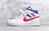 2020.9 (Sale)Super Max Perfect Air Jordan 1 Mid White Blue Red Men And Women Shoes(no worry!good quality) -GCZX (26)