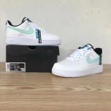 2020.10 Super Max Perfect Nike Air Force 1 Worldwide White Blue Black Men And Women Shoes (98%Authentic)-LY (106)