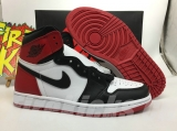 "2020.7 Normal Authentic quality and Low price Air Jordan 1 High ""Black Toe""Men And GS Shoes - LJR"