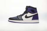 "2020.11 Normal Authentic quality and Low price Air Jordan 1 High ""Court Purple"" Men And GS Shoes - LJR"