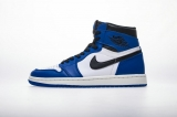 "2020.11 Normal Authentic quality and Low price Air Jordan 1 High ""Game Royal"" Men And GS Shoes - LJR"