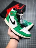 "2020.11 Normal Authentic quality and Low price Air Jordan 1 High "" Lucky Green"" Men And GS Shoes - LJR"