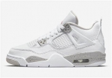 2021.4 (New factory) Super Max Perfect Air Jordan 4 White Oreo Men Shoes-LY(1)