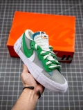 "2021.4 Authentic Sacai x Nike Blazer Low ""Classic Green"" Men And Women Shoes -JB (9)"