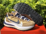 "2021.4 Sacai x Authentic Nike Vaporwaffle ""Tan"" Men And Women Shoes -ZL600 (22)"