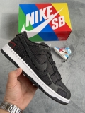 2021.5 Wasted Youth x Super Max Perfect Nike SB Dunk Low Black/University Red-White  Men And Women Shoes -LY(41)