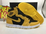 "2021.5 Normal Authentic quality and Low price Air Jordan 1 High ""Pollen"" Men And GS Shoes- LJR"