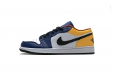 "2021.5 (better quality)Super Max Perfect Air Jordan 1 ""Blue Yellow Orange""Men And Women Shoes(no worry!good quality,95%Authentic) -LJR (23)"