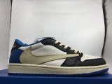 2021.5 Normal Authentic quality and Low price Travis Scott x Fragment Design x Air Jordan 1 Low Men And GS Shoes- LJR