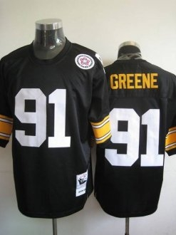 Mitchell And Ness Steelers #91 Kevin Greene Black Stitched ...